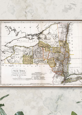 Old Map of New York State 1799