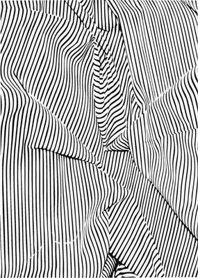 Poster. Textile. Thin lines