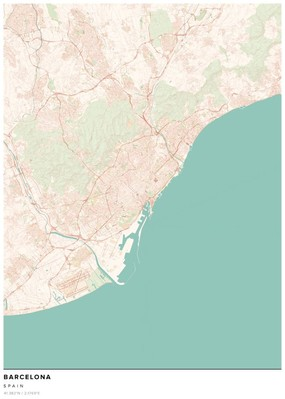 Map of Barcelona, Nature