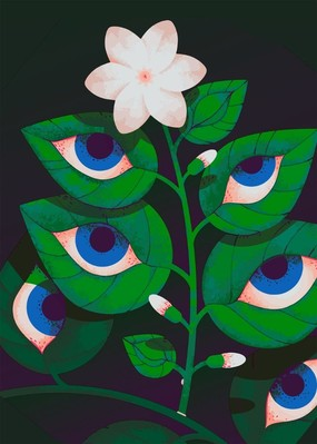 Poster «Eyes on the leaves»